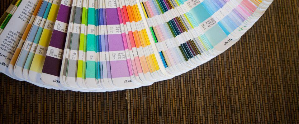 Printing color samples